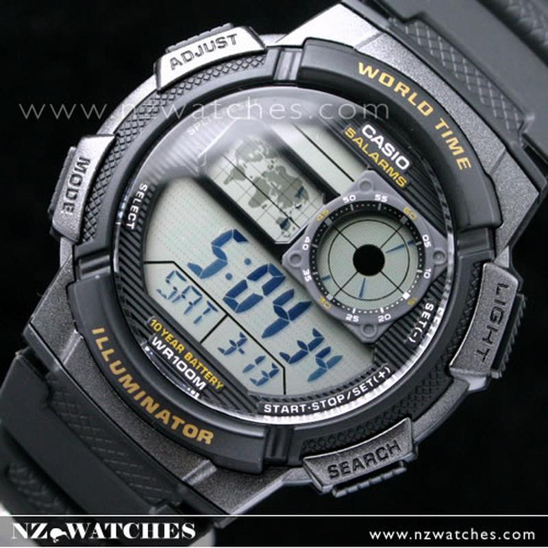 1b083d10fcec BUY Casio Sporty Digital World Time 100M AE-1000W-1AV - Buy Watches Online