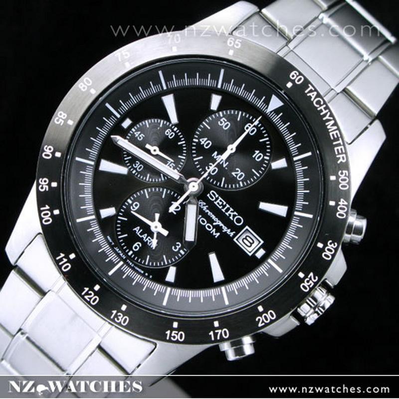 buy seiko alarm chronograph tachymeter watch 100m snac49p1 buy rh nzwatches com seiko chronograph manual 7t92 seiko arctura chronograph manual