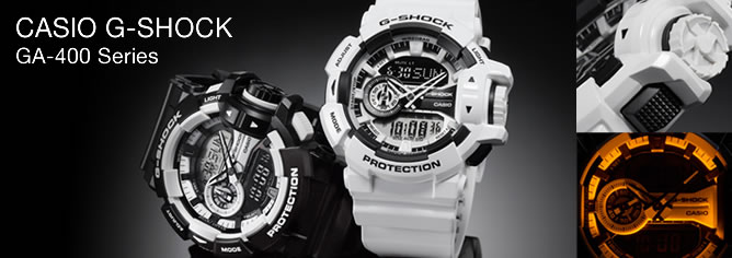 Casio G-Shock 200M Analog Digital Sport Watch GA-400- Series