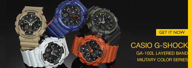 Casio G-Shock Bi-Color Analog Digital 200M Sport Watch GA-100L Series