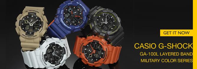 Casio G-Shock Bi-Color Analog Digital 200M Sport Watch GA-100L Series