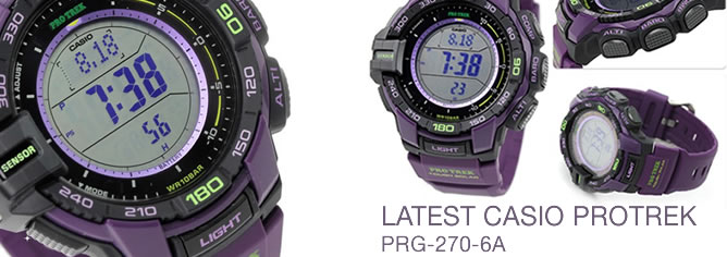 Casio Protrek Ver 3 Triple Sensor Compass Solar Watch PRG-270-6A