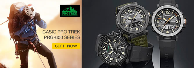 Casio PROTREK Triple Sensor Ver 3 Tough Solar Watch PRG-600 Series