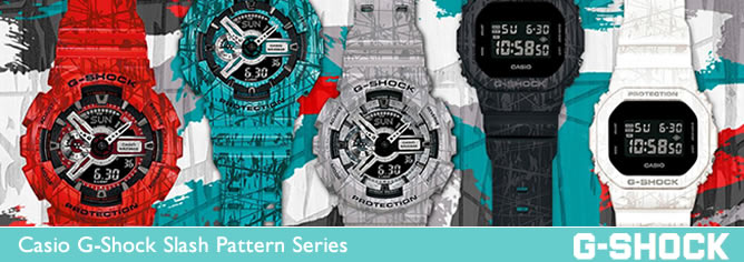 Casio G-Shock Slash Pattern Series